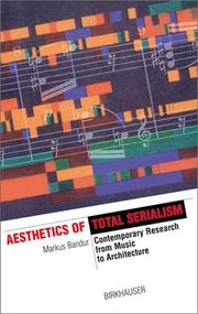 Aesthetics of total serialism by Markus Bandur