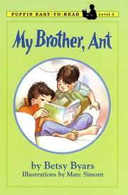 Cover of: My Brother, Ant | Betsy Cromer Byars