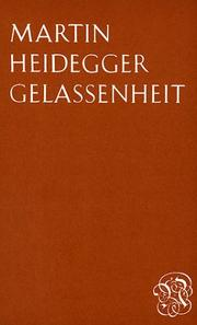 Cover of: Gelassenheit: A translation of Gelassenheit