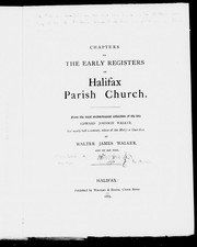 Chapters on the early registers of Halifax parish church