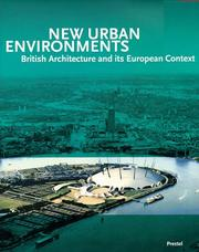Cover of: New urban environments |