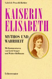 Cover of: Kaiserin Elisabeth