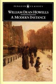 Cover of: A Modern Instance: a novel