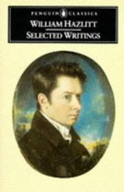 Cover of: Selected writings of William Hazlitt