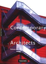 Contemporary European Architects (Big Series : Architecture and Design) by Philip Jodidio, Philip Jodido, Wolfgang Amsoneit, Dirk Meyhofer