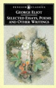Cover of: Selected Essays, Poems, and Other Writings