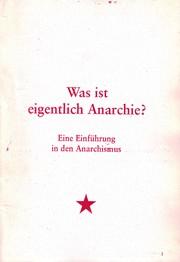 Was ist eigentlich Anarchie?