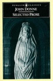 Cover of: Selected prose: chosen by Evelyn Simpson