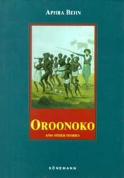 Cover of: Oroonoko & Other Stories (Konemann Classics)