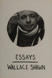 Cover of: Essays | Wallace Shawn