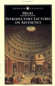 Cover of: Introductory lectures on aesthetics