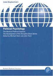 Cover of: Political Psychology (World of Political Science: The Development of the Disciplin)