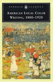Cover of: American local color writing, 1880-1920