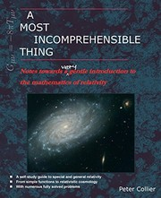 Cover of: A Most Incomprehensible Thing | Peter Collier