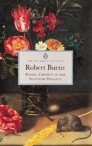 Cover of: Poems Chiefly in the Scottish Dialect | Robert Burns