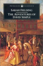 The adventures of David Simple by Sarah Fielding