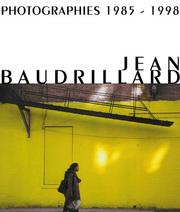 Cover of: Jean Baudrillard | Peter Weibel