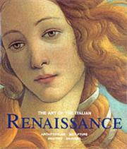 Cover of: The Art of the Italian Renaissance