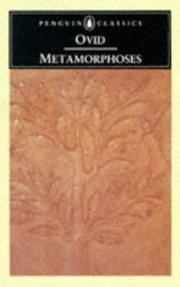 Cover of: Metamorphoses | Publius Ovidius Naso