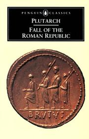 Cover of: The Fall of the Roman Republic | Plutarch