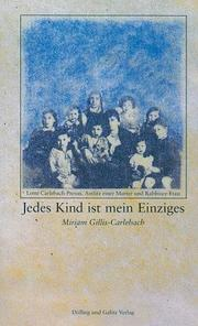 Cover of: Jedes Kind ist mein Einziges