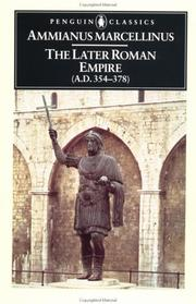 Cover of: The later Roman Empire (A.D. 354-378)