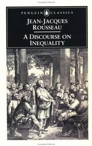 Cover of: A discourse on inequality | Jean-Jacques Rousseau