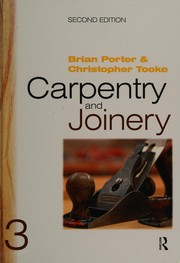 Cover of: Carpentry and Joinery | Porter, Brian, Christopher Tooke