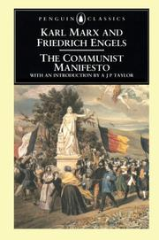 Cover of: Communist Manifesto, The