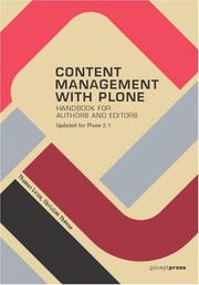 Cover of: Content Management with Plone