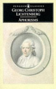 Cover of: Aphorisms