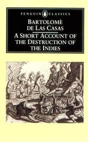 Cover of: Short Account of the Destruction of the Indies