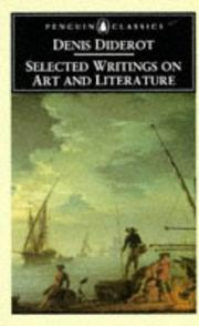 Cover of: Selected writings on art and literature