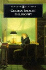 Cover of: German idealist philosophy |