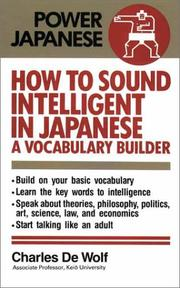 Cover of: How to sound intelligent in Japanese