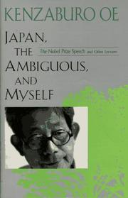 Cover of: Japan, the ambiguous, and myself