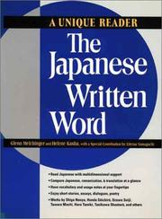 Cover of: The Japanese written word