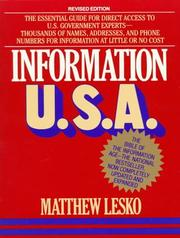 Cover of: Information U.S.A
