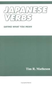 Cover of: Japanese Verbs | Tim R. Matheson