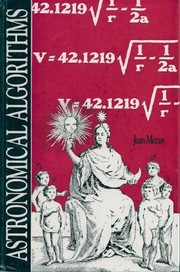 Cover of: Astronomical algorithms by Jean Meeus
