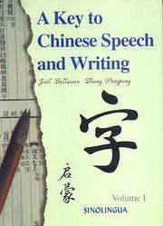 Cover of: A key to Chinese speech and writing |