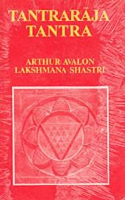 Cover of: Tantraraja Tantra by Arthur Avalon