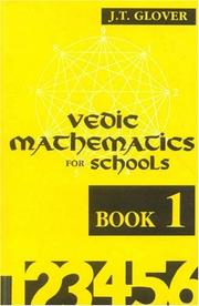 Cover of: Vedic mathematics for schools | J. T. Glover