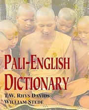 Cover of: Pali-English Dictionary | William Stede (Editor) T.W.Rhys Davids (Editor)