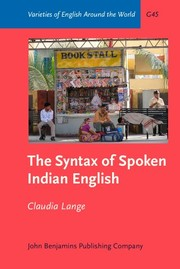 Cover of: The Syntax of Spoken Indian English | Claudia Lange