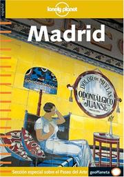 Cover of: Lonely Planet Madrid (Spanish) 1 (Lonely Planet Madrid)