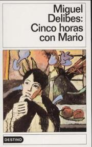 Cover of: Cinco Horas Con Mario (Destinolibro)