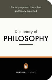 Cover of: The Penguin dictionary of philosophy | Thomas Mautner