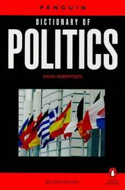 Cover of: The Penguin dictionary of politics