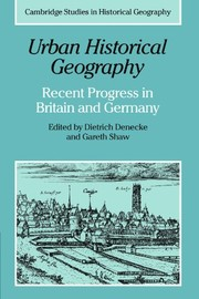 Cover of: Urban Historical Geography | Dietrich Denecke